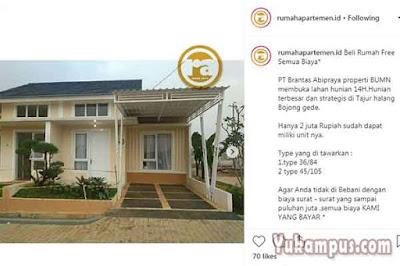 contoh iklan rumah dijual instagram