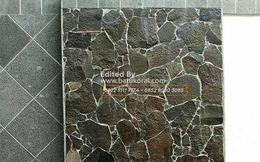 batu acak alam dinding