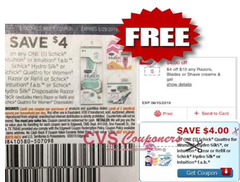 Razor Coupons CVS