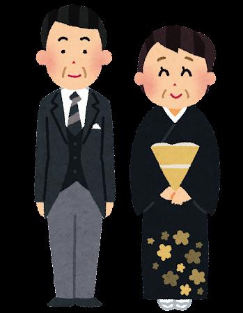 新郎新婦の両親のイラスト(結婚式)