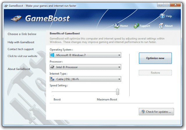 Screenshot PGWARE GameBoost 3.10.14.2019 Full Version