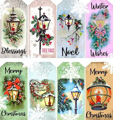 free printable christmas lantern tags