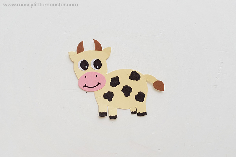 farm animal cow paper craft