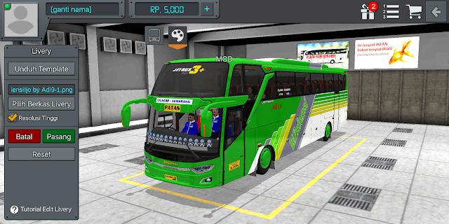 Livery Efisiensi JB3+ SHD Bussid