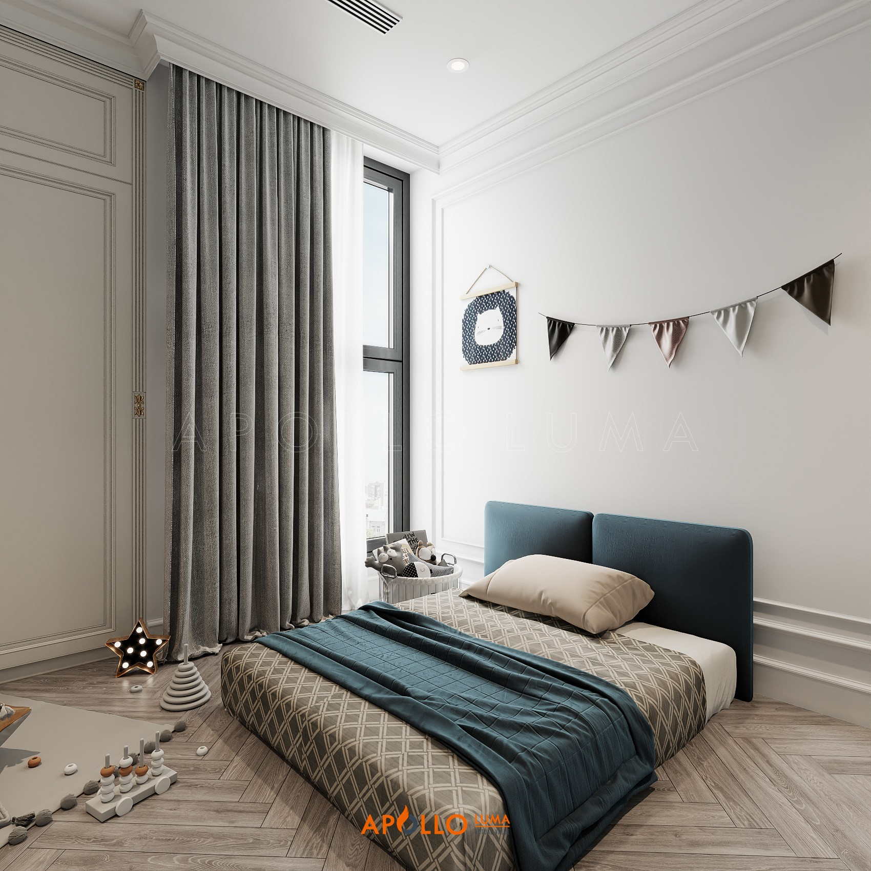 Thiết kế nội thất căn 3 phòng ngủ Vinhomes Metropolis