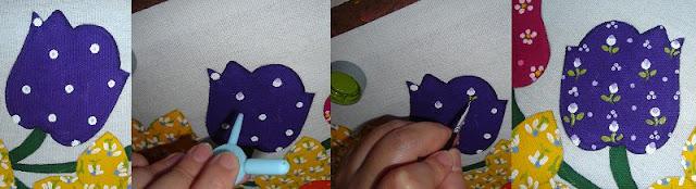 estampas pintura em tecido passo a passo