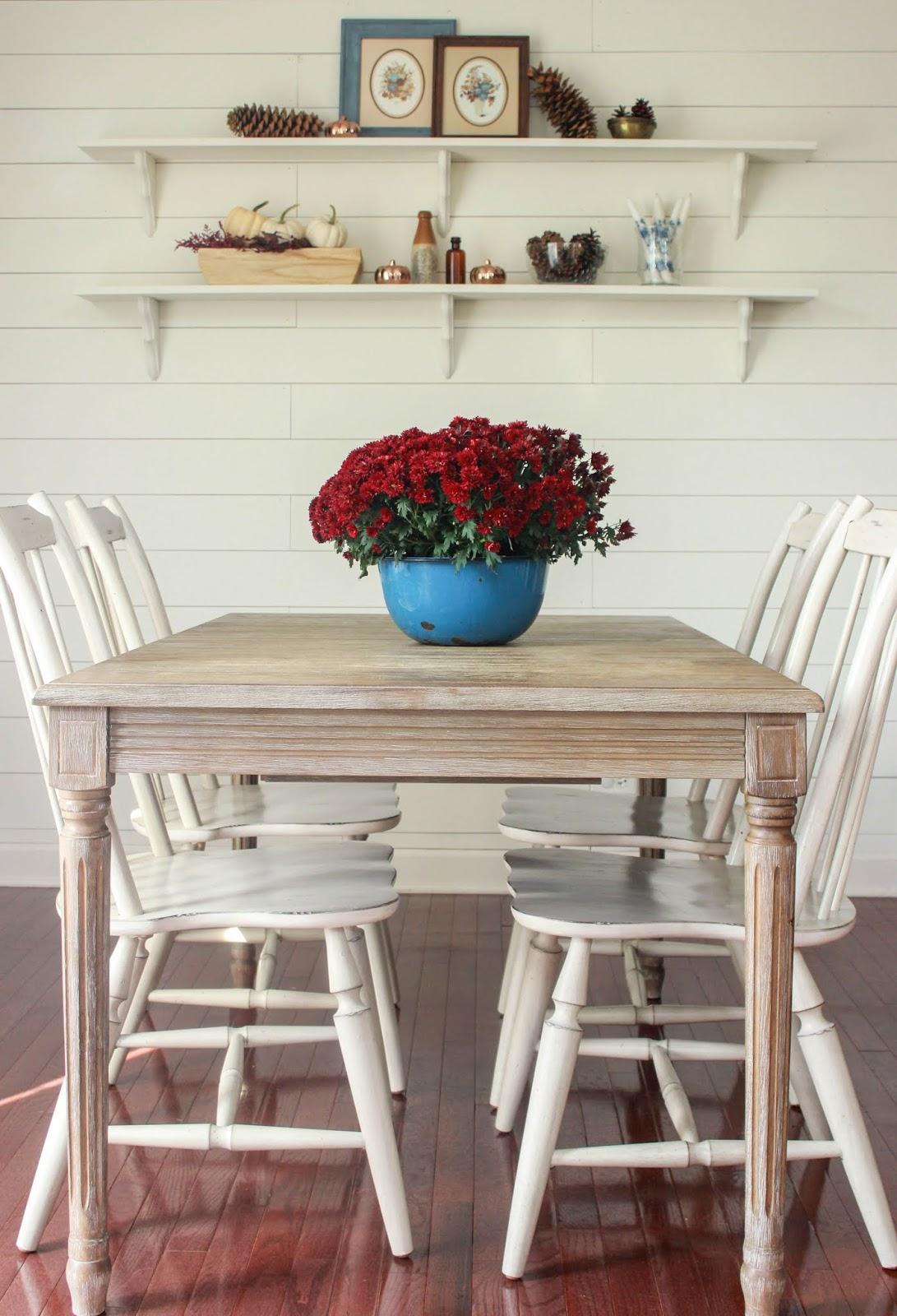 fall kitchen table decor