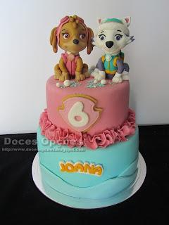 paw patrol girl cake