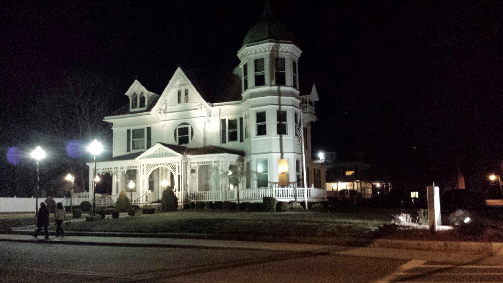 Ginley Funeral Home at night