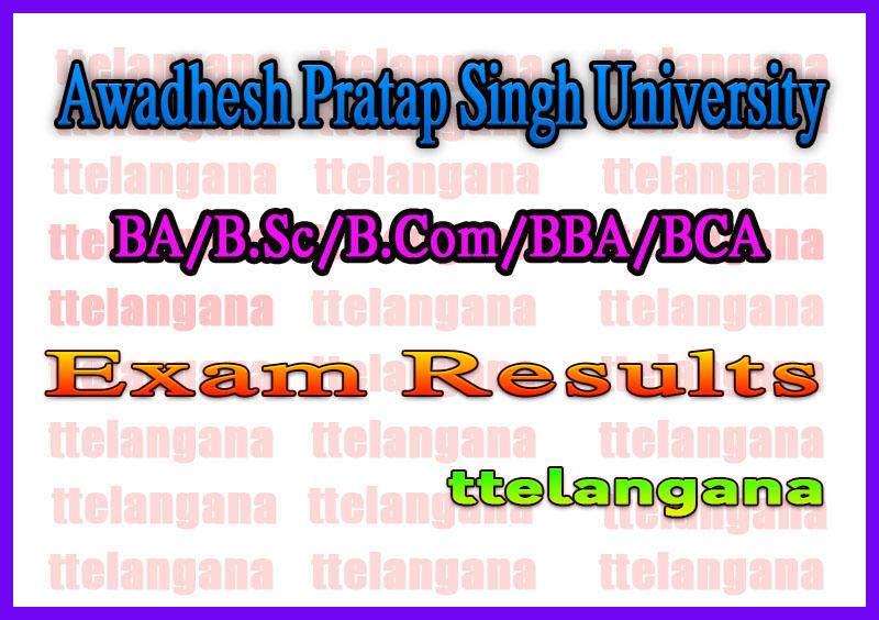 APSU Rewa UG 2nd 4th 6th Sem Result