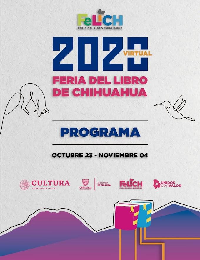 Programa Feria del Libro Chihuahua 2020 Virtual