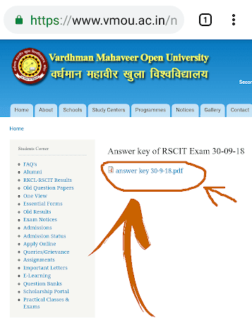 RSCIT Answer Key Download