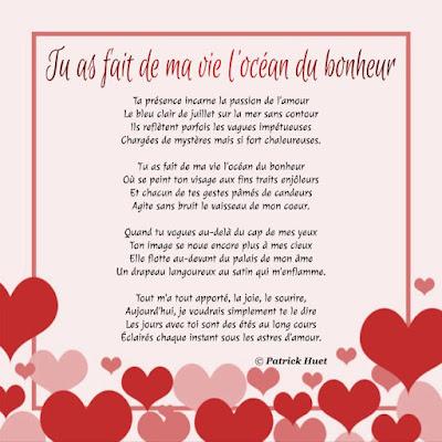 Lettre de déclaration d'amour pour la St-Valentin à s(a)on chéri(e)