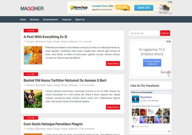 Maggner - Magazine Blogger Template