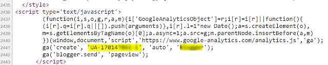 bayuariestya.com cara melihat Google Analytics Tracking ID melalui page source
