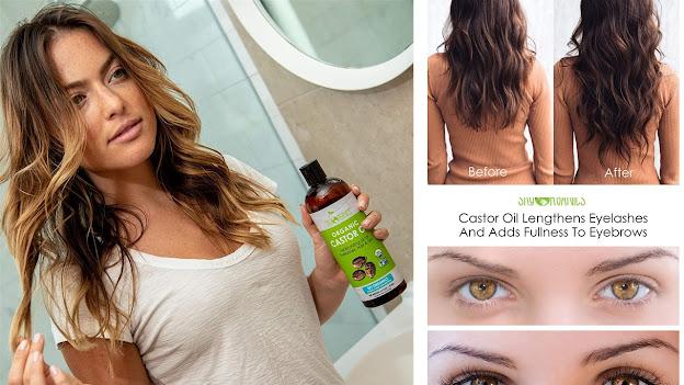 Aceite de ricino para el cabello seco