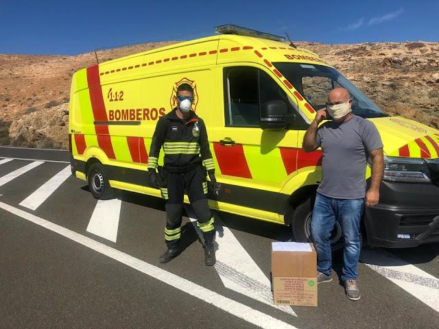 reparto material Sector primario fuerteventura - Cabildo de Fuerteventura reparte mascarillas y material de protección al sector primario de la isla