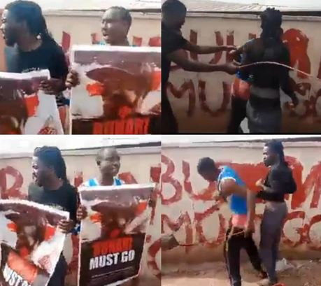 Two men Flogged with Cane after staging #BuhariMustGo Protest In Kogi state( Video)