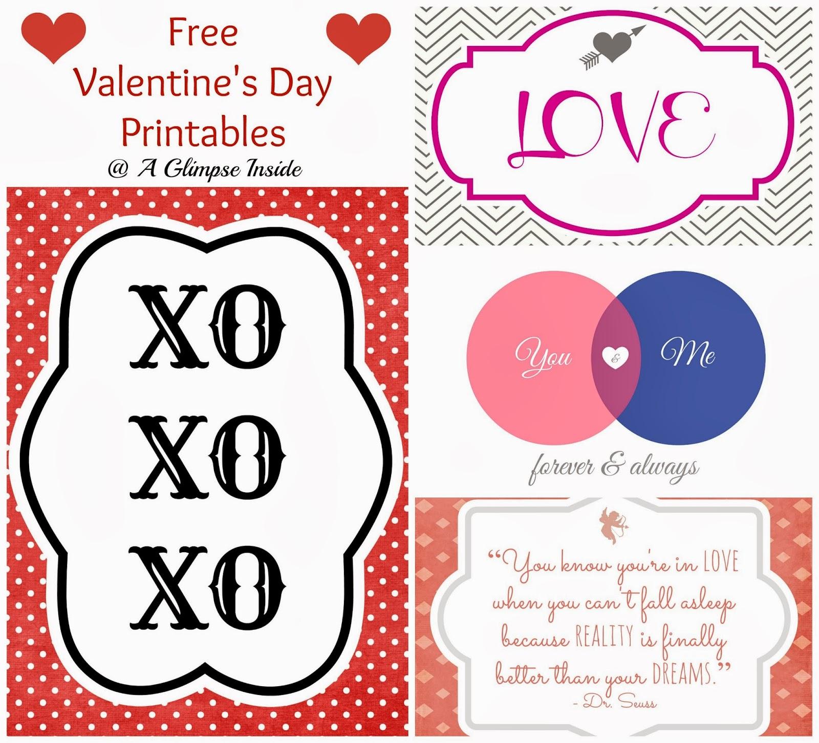 A Glimpse Inside Valentine S Day Printables