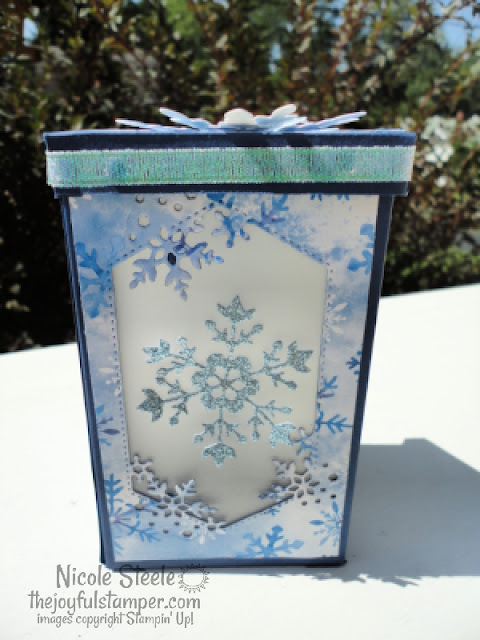 christmas, snowflake splendor, luminary box, tealight box, gift box, stampin' up!, home decor, paper crafts, stamping, nicole steele, independent stampin' up! demonstrator in pittsburgh pa, the joyful stamper