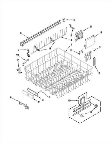 Kenmore Ultra Wash Dishwasher Parts Diagram