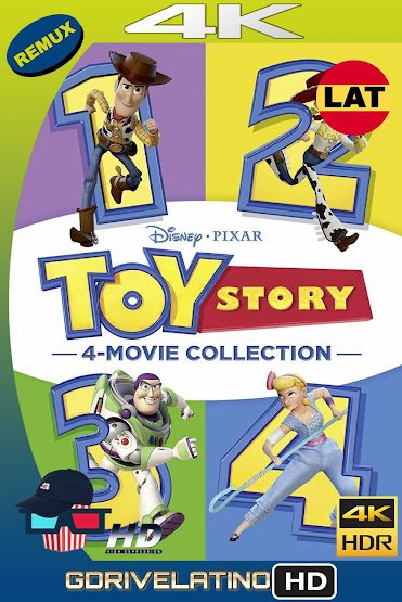 Toy Story (1995-2019) Colección BDRemux 4K HDR Latino-Ingles MKV