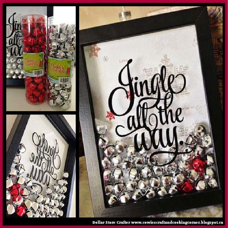 Dollar Tree Christmas Decor And Gift Ideas: Dollar Store Crafter: DIY 'Jingle All The Way' Wall Art