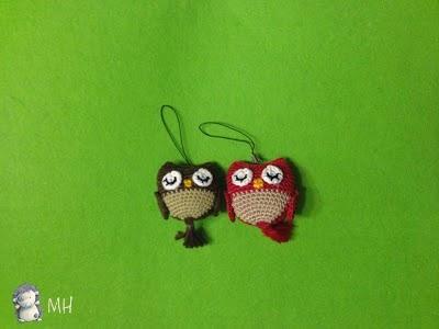 Búhos amigurumi chiquitos