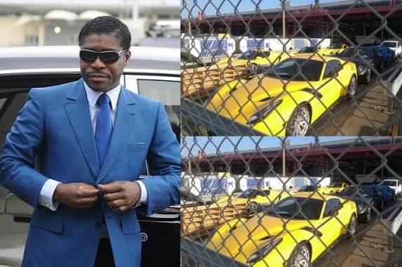 Teodoro Nguema Obiang Mangue - Zabavené luxusné vozidlá s extrémne vysokou hodnotou