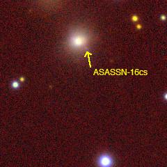ASASSN-16cs/ SN 2016asf - Image Credit: PanSTARRS-1 Image Access