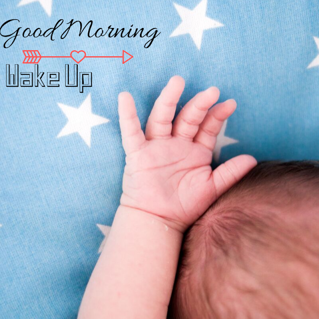 Beautiful Baby hand Good Morning Images