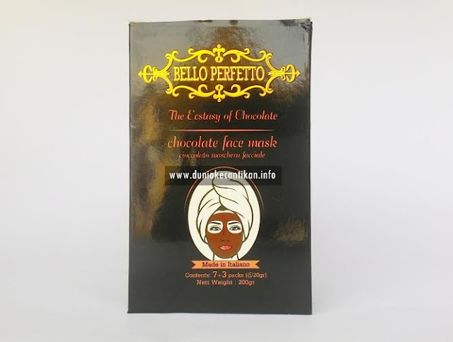 Masker Coklat Bello perfetto Jadikan Kulit Lebih Terlihat Muda