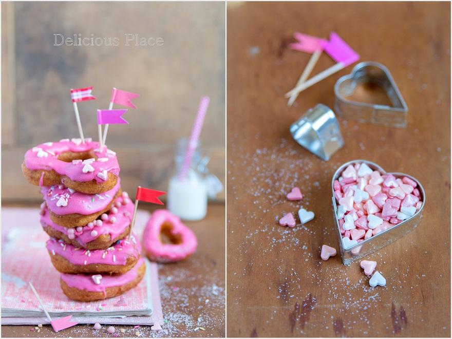 Serduszkowe oponko-donuty