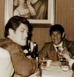 Ringo Bonavena con Carlitos Monzón.