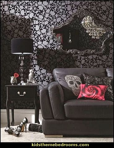 skull bedroom decor decorating theme bedrooms maries manor skull bedding 13167