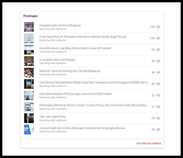 Tampilan Blogger Terbaru