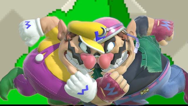 Super Smash Bros. ultimate two Wario shoulder bash dash attack