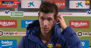 Sergi Roberto reacts to his Barca return after 2-month out with injury