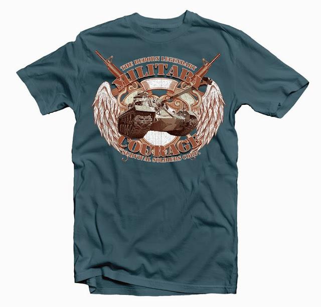 military design tshirt
