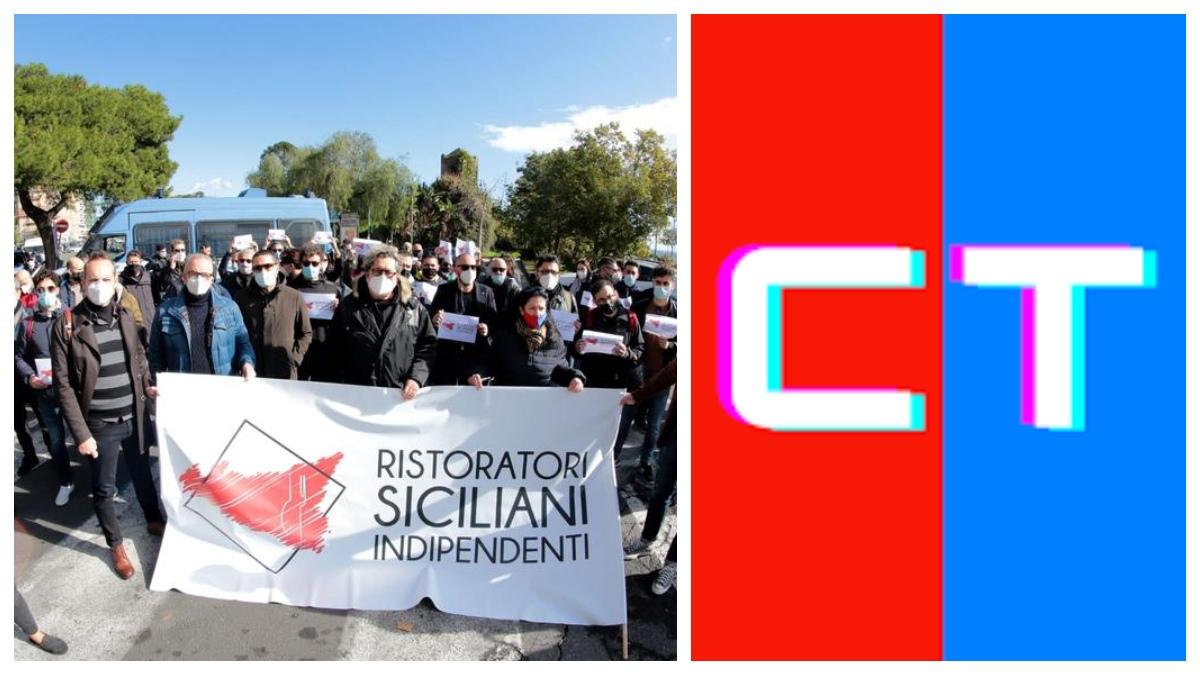 Manifestazione del comitato dei Ristoratori Siciliani Indipendenti