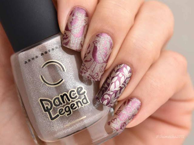 Dance Legend: Melange No.281 / Curali Nail Stamping 006 Folky, スタンピングネイル