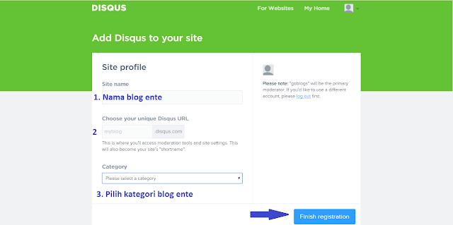 Masukan Disqus ke Situs Web/Blog