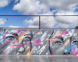Albury Street Art | Waites Park mural by Kade Sarte