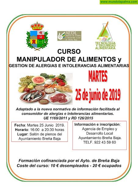 BREÑA BAJA: Curso de Manipulador de Alimentos