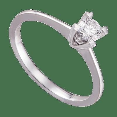 Nhẫn Kim cương Vàng trắng 14K PNJ DD00W000139