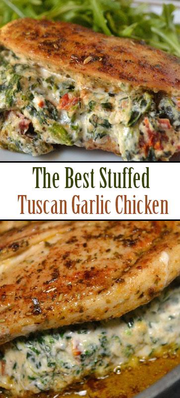 The Best #Stuffed #Tuscan #Garlic #Chicken #recipe