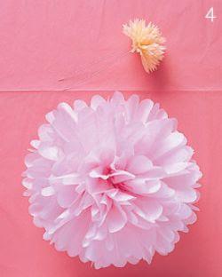 Bunga cantik dari kertas krep sudah jadi