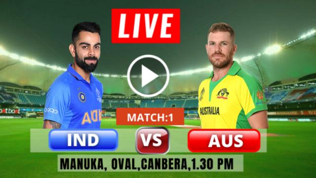 Watch LIVE : Australia vs India : 1st T20 , Live Cricket