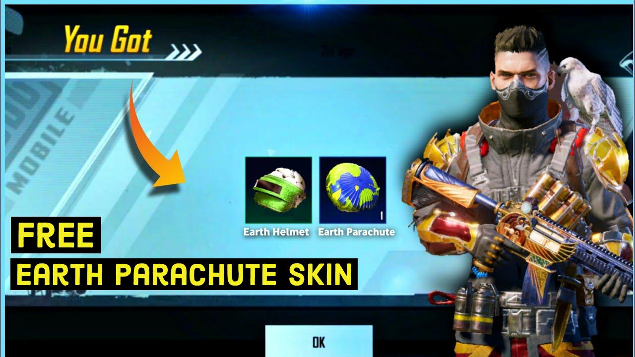Get free parachute skin in pubg