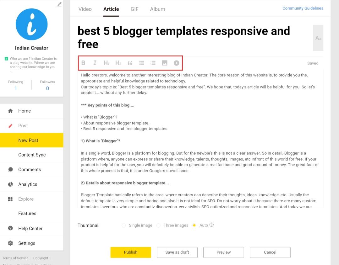 Topbuzz arrange articles